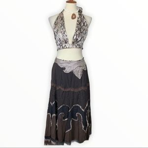 Miss Me Gypsy Hippie Boho Tiered Long Skirt